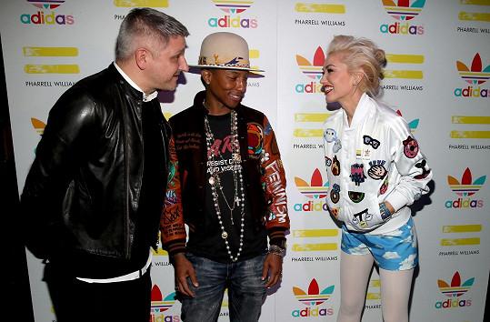 Gwen Stefani s kolegou Pharellem Williamsem a Dirkem Schonbergerem