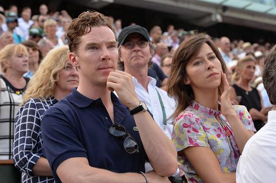 Benedict Cumberbatch se snoubenkou Sophií Hunter