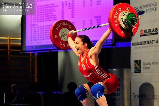Sarah na nedávných Commonwealth Games v Glasgow