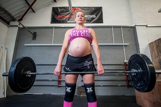 Těhotenství pro ni nepředstavuje žádný problém.