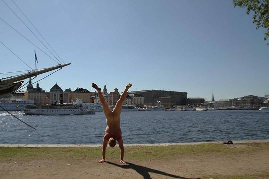 Švédská metropole Stockholm se návštěvy netradičního turisty také dočkala.