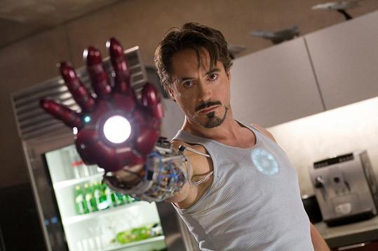 Robert Downey junior jako Iron Man