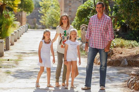 Španělská královská rodina tráví již tradičně část prázdnin na Mallorce.
