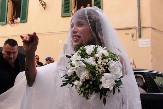 Herečka se vdávala na Sardinii.