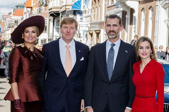 Královny se svými manžely v nizozemském Haagu