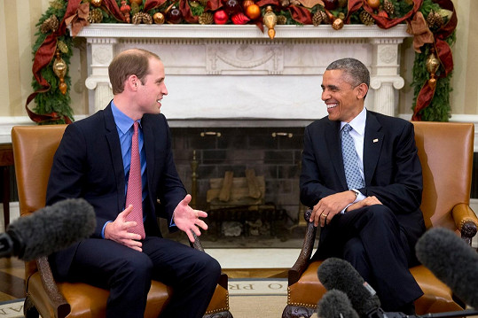 V rozhovoru prince Williama a prezidenta Baracka Obamy měl humor své místo.