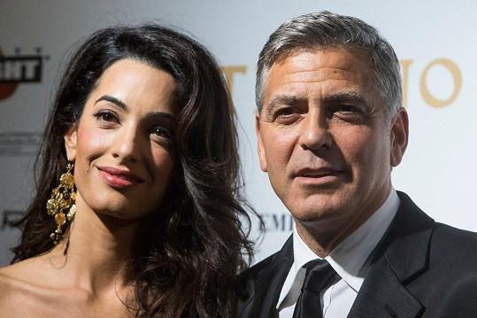 Nastávající manželé George Clooney a Amal Alamuddin