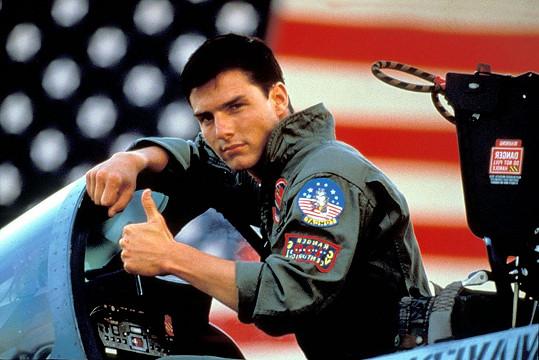Tom Cruise v Top Gunu.