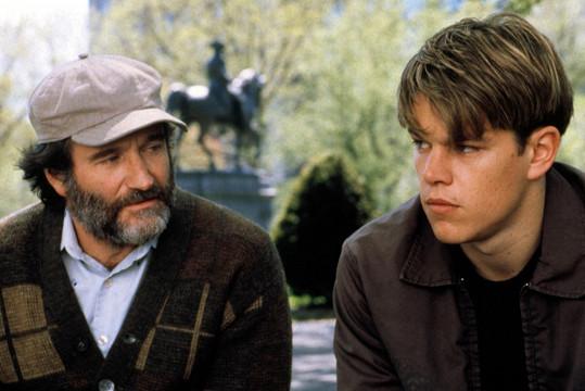 Robin Williams s Mattem Damonem v dramatu Dobrý Will Hunting