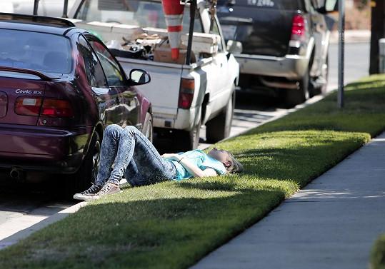 Kesha si dopřála šlofíka u silnice.