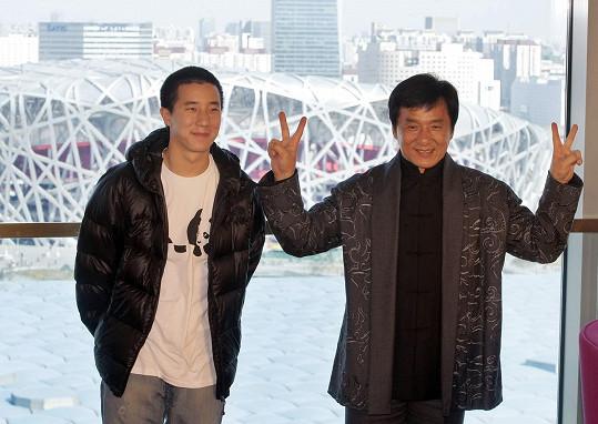Jackie Chan se synem Jayceem