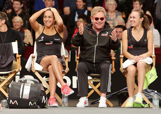 Elton John s Heather Watson a Martinou Hingis