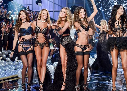 Lily Aldridge, Candice Swanepoel, Doutzen Kroes, Alessandra Ambrosio a Adriana Lima jsou největší hvězdy značky Victoria's Secret.