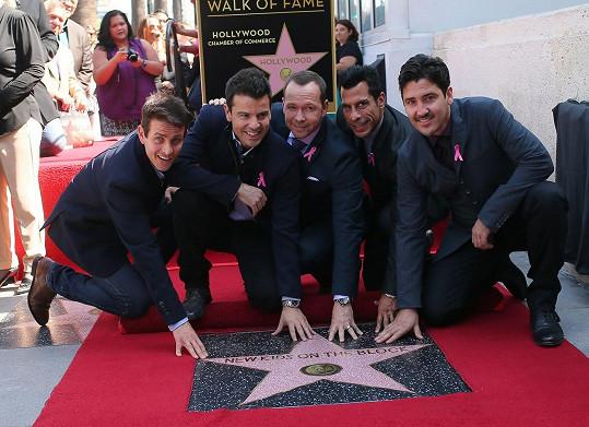 New Kids on the Block mají v Hollywoodu svou hvězdu slávy.