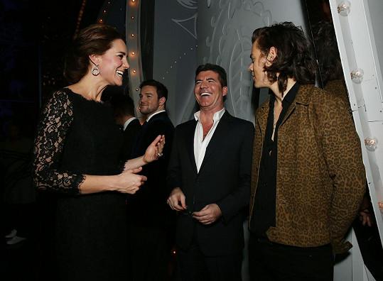 Kate se Simonem Cowellem a Harrym Stylesem