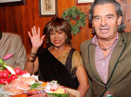 Tina Turner s manželem Erwinem Bachem