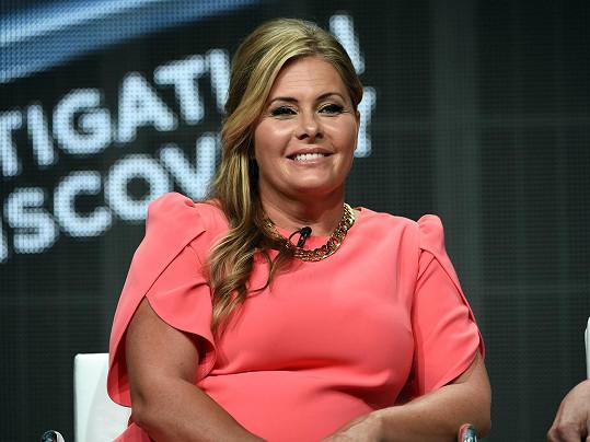 Nicole Eggert v červenci během panelové diskuze.