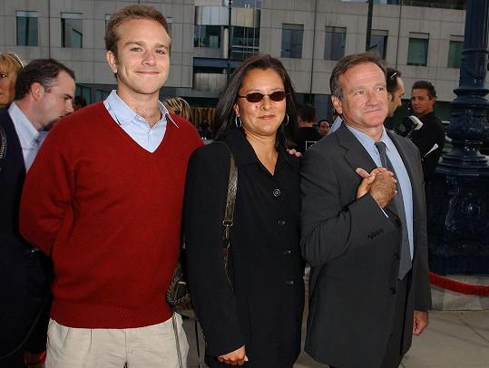 Williams se synem Zacharym a svou druhou ženou Marshou