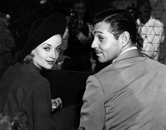 Carole Lombard a její životní láska Clark Gable na tenise v roce 1937