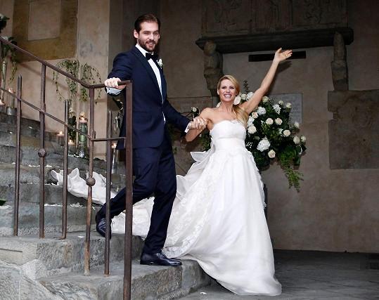 Šťastní novomanželé Michelle Hunziker a Tomaso Trussardi