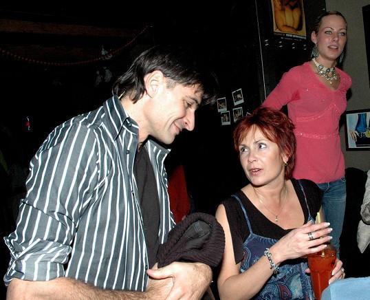 Ilona Svobodová s kolegou Zdeňkem Podhůrským v roce 2005