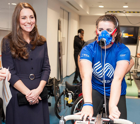 Vévodkyně přišla podpořit mladé sportovce.