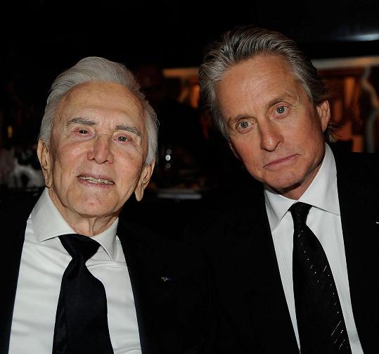 Kirk Douglas se synem Michaelem