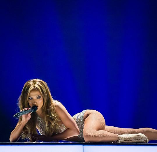 Jennifer Lopez potěšila návštěvníky Las Vegas.