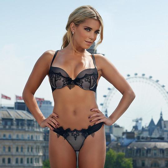 Sylvie Meis se nafotila v nové kolekci spodního prádla.