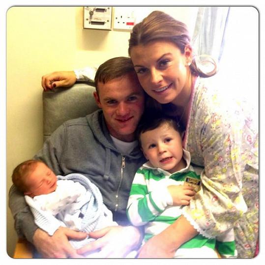 Fotbalista Wayne Rooney s manželkou Coleen a jejich syny