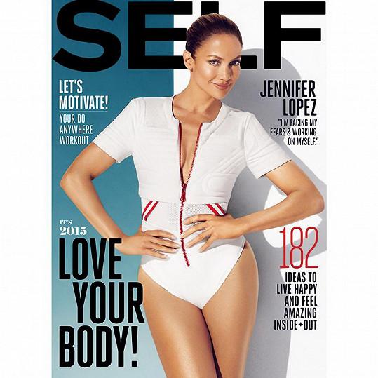 Jennifer na titulce magazínu Self.