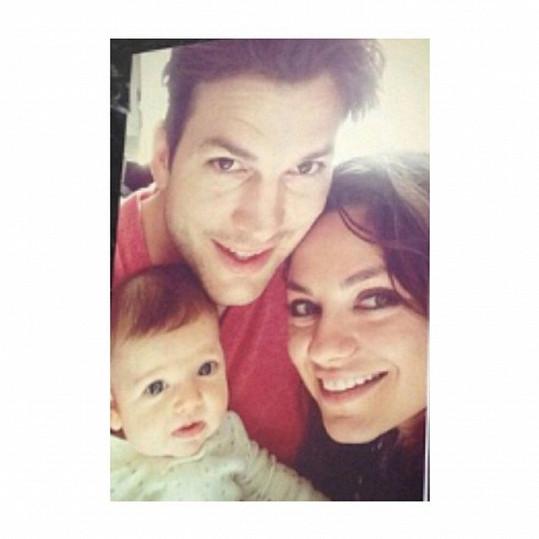 Jedna z mála zveřejněných rodinných fotografií s dcerou Wyatt.