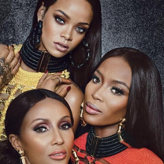 Naomi nedávno nafotila úžasné snímky s Rihannou a legendární modelkou Iman.
