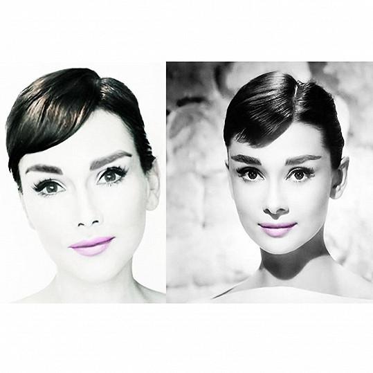 Kandee jako Audrey Hepburn.