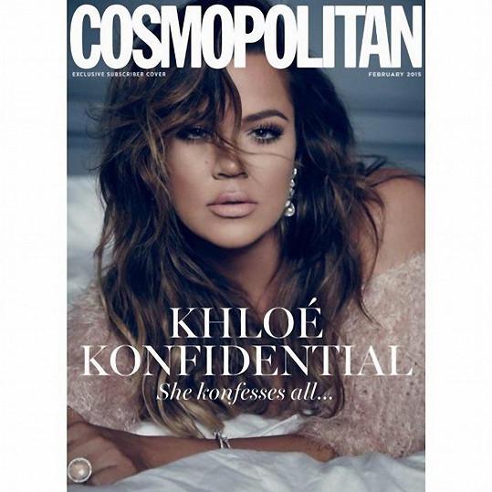 Nové vydání britského Cosmopolitanu s Khloé na obálce