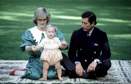 Princ William s rodiči na Novém Zélandu v roce 1983