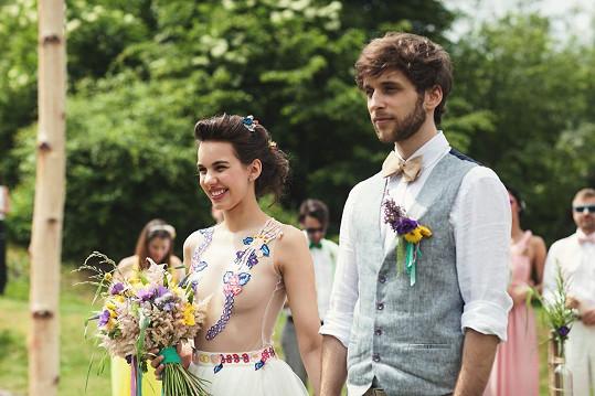 ...A tady jejich reálná svatba