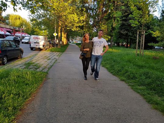 Dominika Mesarošová a její přítel Petr