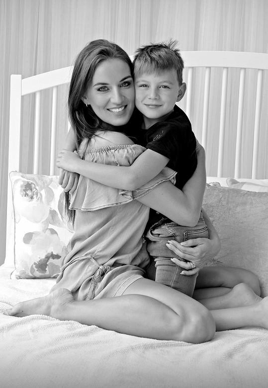 Lucie Králová se synem Richardem
