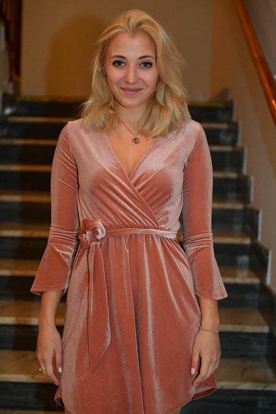 Anna Slováčková v kostýmu.