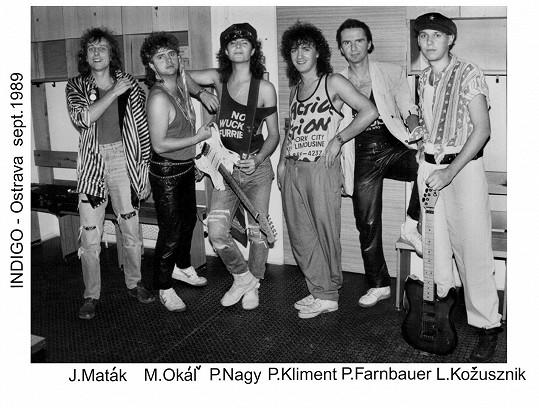 Tak vypadala kapela Indigo v začátcích (Peter je třetí zleva)