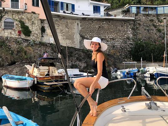 Další destinací, kam se vydala, je ostrov Capri.