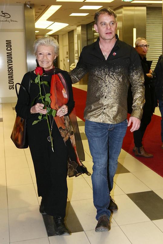 S Filipem Renčem, který ji obsadil do filmu Lída Baarová.