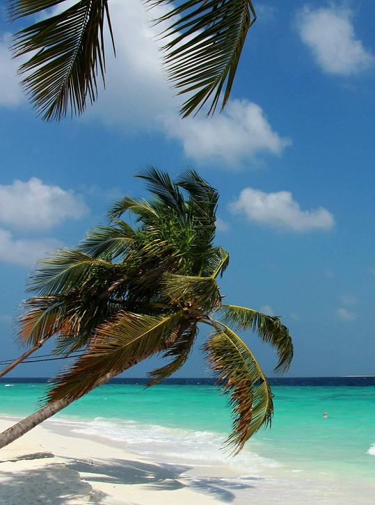 Tímhle pohledem se zpěvačka kochala při procházkách po ostrově.