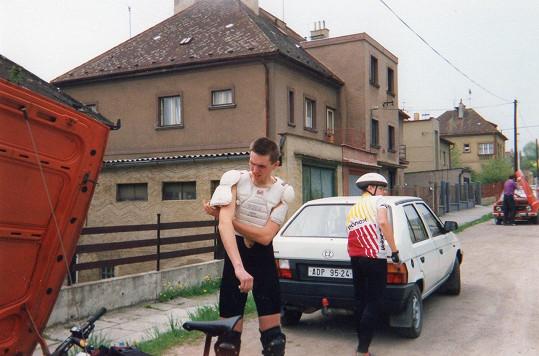 Tomáš Hauptvogel, když mu bylo 21 let.