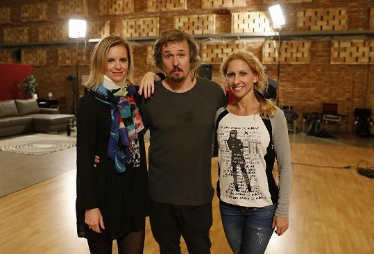 Ondřej a jeho tanečnice - bývalá Kamila Tománková a aktuální Eva Krejčířová