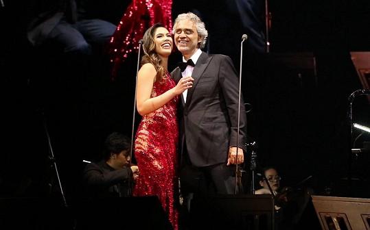 Christine Allado a Andrea Bocelli si rozumí.