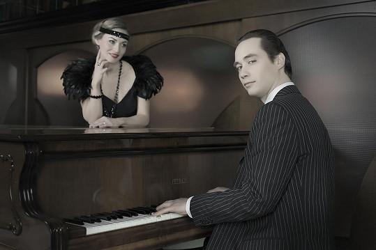 Filip Tomsa a modelka Lenka Kovaříková
