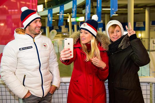 Renata se akce zúčastnila společně s Radkem Štěpánkem a Jitkou Schneiderovou.