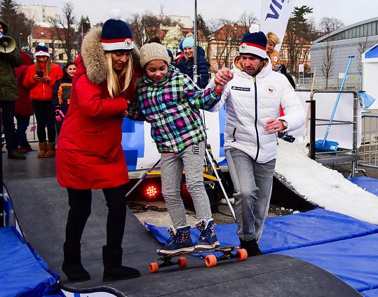 V rámci projektu Teribear Renata a Radek dělali společnost dětem bez domova.